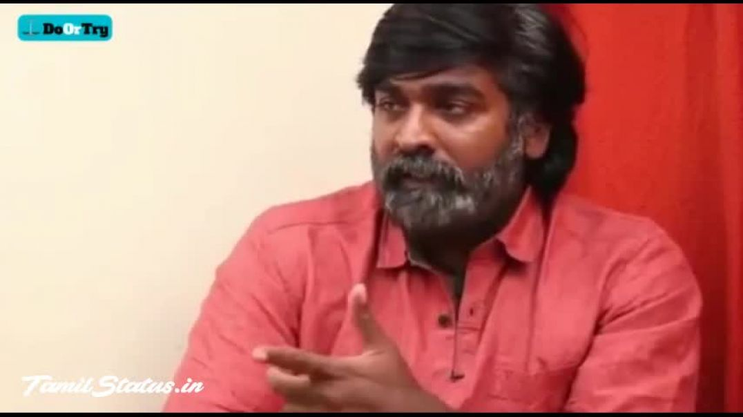 Vijay Sethupathy Motivation Dialogue from Tamil Staus