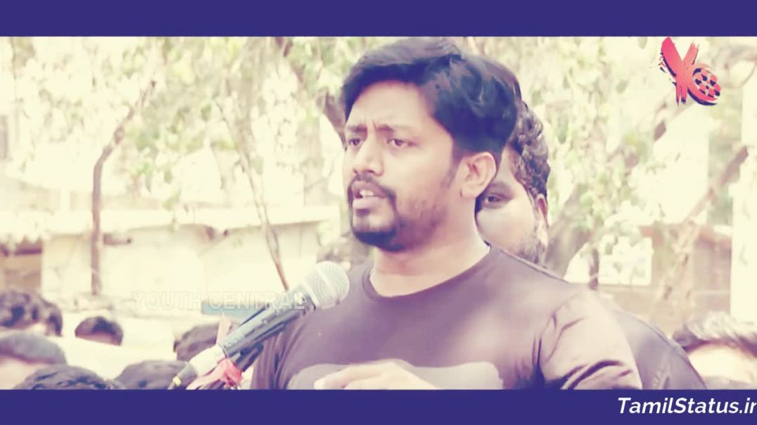 Whatsapp Tamil Video Status Cauvery Issue - Mirchi Sha Angry Speech In Cauvery Protest