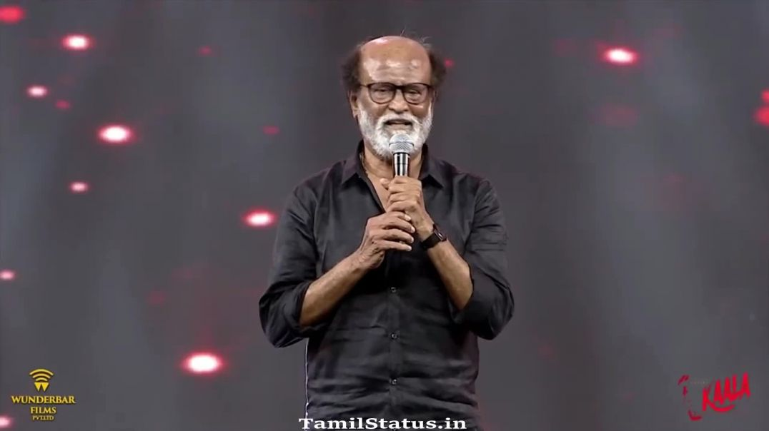 Kaala Status of Rajini Stage Speech about Tamil Fans
