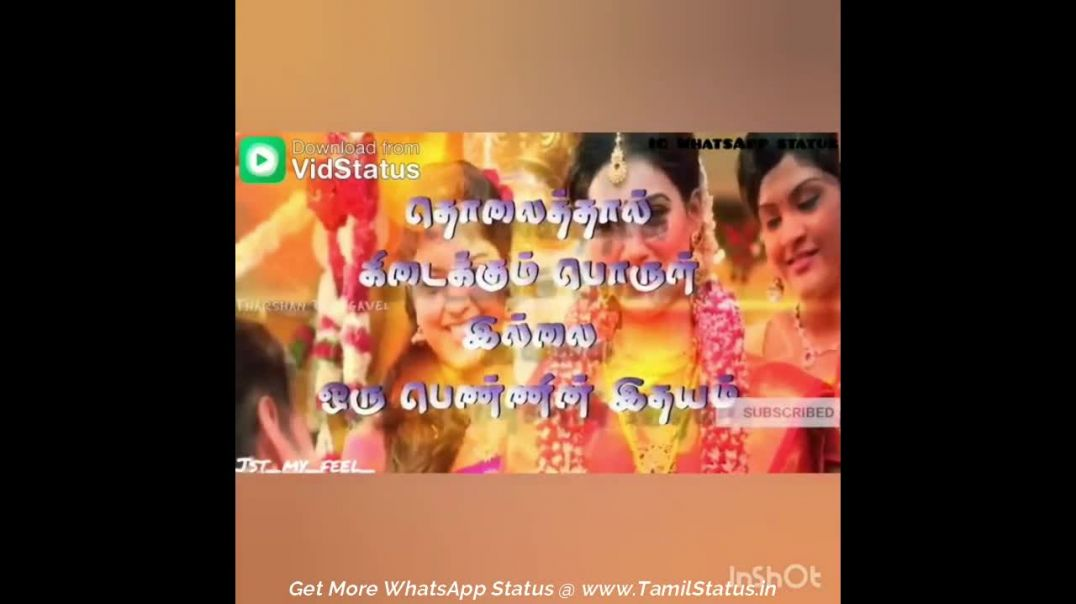 Tamil Quotes whatsapp videos status for Love feeling story